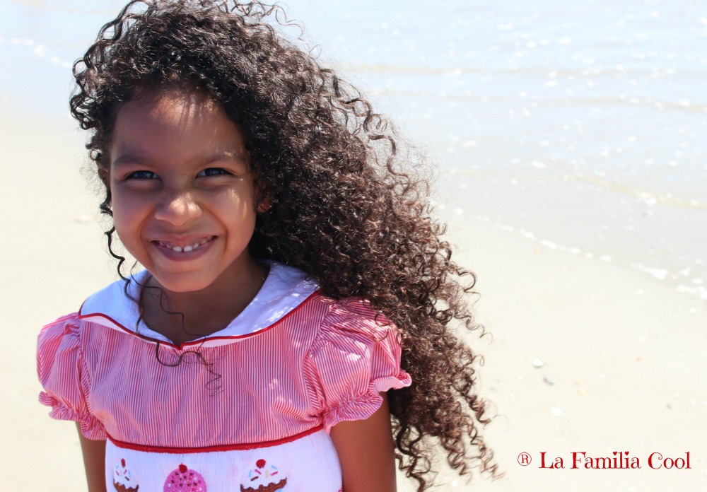My daughter fully embraced her curls.